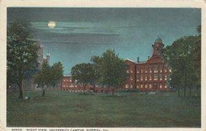 NORMAL , Illinois, 1900-10s ; Night View, University Campus