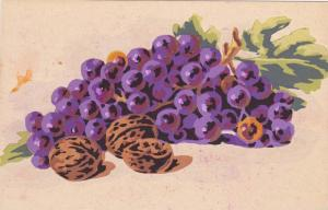 Hand-painted Still Life, Grapes and Walnuts, 00-10s