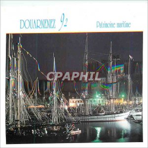 Modern Postcard Douarnenez Maritime Heritage Festivals organized by the Yacht...