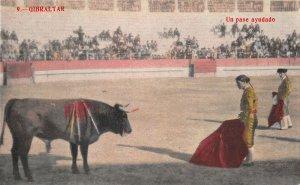 US3087 Spain Gibraltar Un Pase Ayudado Bull Fight Arena corrida