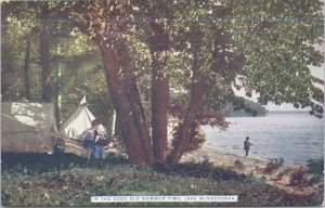 Lake Minnetonka, Minn.-In the good old summer time Camping along the shore