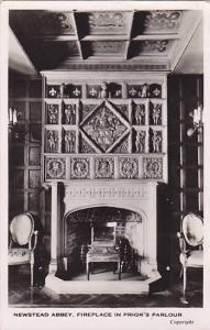 RP, Newstead Abbey, Fireplace In Prior's Parlour, Nottinghamshire, England, U...