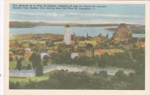 Canada Quebec General View Looking Down St Lawrence River