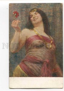 3046159 Semi-Nude BELLY DANCER Harem by BORELLA old Italy PC