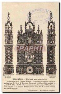 Postcard Besancon Old Astronomical Clock