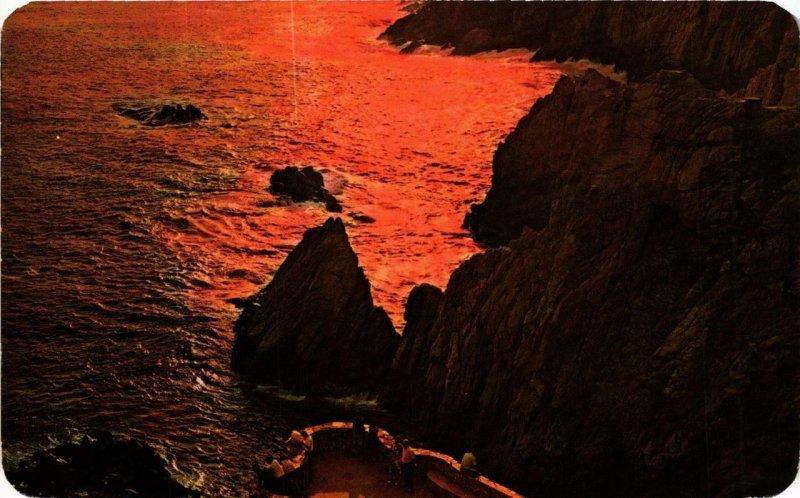 CPM AK ACAPULCO Bonita Puesta del Sol en la Quebrada MEXICO (647278)