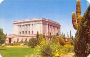 Mesa Arizona~Latter Day Saints Temple~Mormon 1950s Postcard