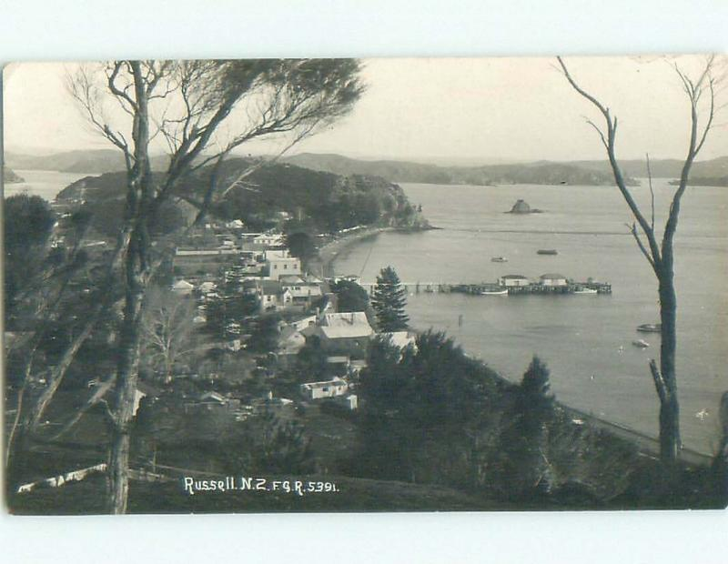 old rppc NICE VIEW Russell - Kororareka New Zealand i1935
