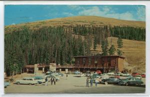 Berthoud Pass Lodge Cars Colorado 1964 postcard