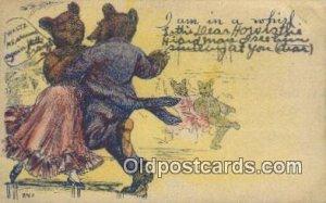 I Am In a Whirl Wells Bears, Bear Postcard Bears, tragen postkarten, sopporta...