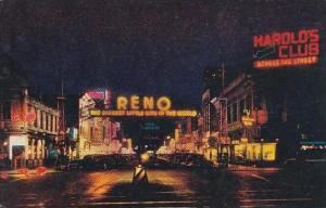 Nevada Reno At Night