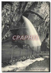 Old Postcard Baume les Messieurs the Cascade Caves Entree