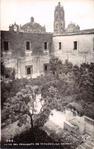 TEPOZOTLAN MEXICO PATIO DEL CONVENTO~ REAL PHOTO POSTCARD 1940s