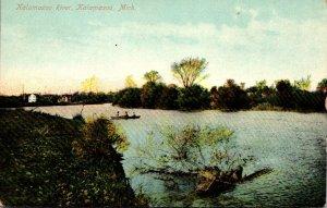 Michigan Kalamazoo Scene On Kalamazoo River 1907