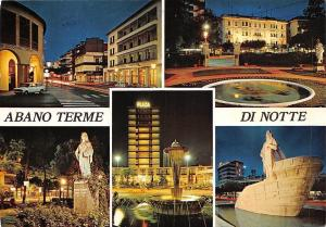 Italy Abano Terme di Notte multiviews Fountain Brunnen Plaza Statue