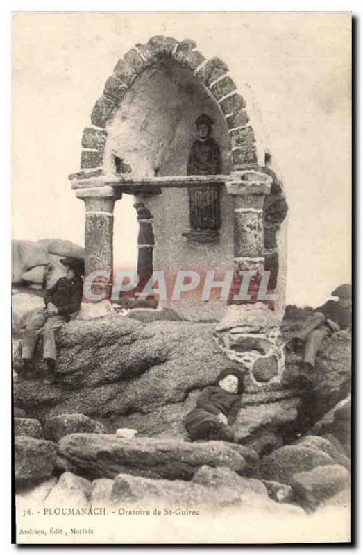 Postcard Old Oratory of St. Guirec Ploumanach