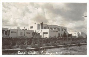 LP04 Gallup New Mexico Postcard RPPC Casa Linda