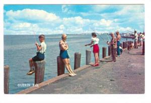 Pier Fishing , GUERIN , Quebec , Canada , 50-60s