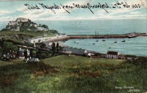 Gorey Harbour, Pier, JERSEY, Channel Islands, UK, PU-1915