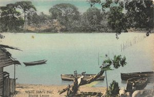 White Man's Bay, Sierra Leone, West Africa c1910s Hand-Colored Vintage Postcard
