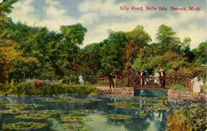 MI - Detroit. Belle Isle, Lily Pond