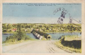 St. John River Valley, Hartland Covered Bridge, HARTLAND, New Brunswick, Cana...