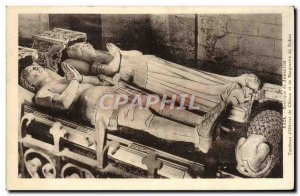 Old Postcard Josselin Basilica Tomb of & # 39Olivier Clisson and Marguerite d...
