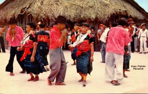 Panama San Blas Indians Dancing During Festivities On Day Of The Indian...