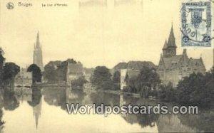 Le Lac D'Amour Bruges, Belgium 1921 Stamp on front