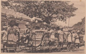 Rickshas & Pullers , DURBAN , South Africa , 1910s