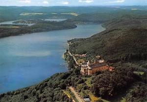 Schloss Waldeck und Edertalsperre, Chateau Panorama Lac Lake Castle General view