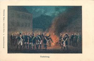 Studentika Studentenpostkarten von Edm. v. Konig Heidelberg Fackelzug Fencing