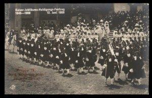 Austria Kaiser Franz Joseph 1908 Huldigungs 50th Anniv Festival RPPC Real  97223