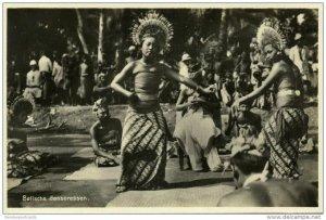 indonesia, BALI, Beautiful Native Djanger Dancers (1920s) Postcard