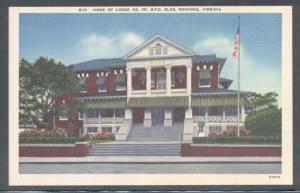 Virginia colour PC  Elk Lodge 197 Roanoke, VA, unused