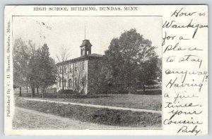 Dundas Minnesota~High School~Cupola~Dirt Road~Cousin Ruby to Otis Herreman~1907