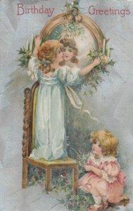 Birthday Greetings, 1912 ; 2 girls ; WINSCH
