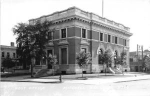 Mitchell South Dakota~Post Office & Street Scene~Buildings Next Door~1950s RPPC