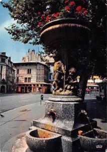 France Saint Etienne, La Fontaine Fleurie de la Place du Peuple Fountain