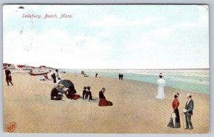 1908 SALISBURY BEACH MASSACHUSETTS*MA*ROBBINS CO ANTIQUE POSTCARD
