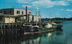 PORTLAND, Maine, 1940-60s; Fishing Boats in Harbor