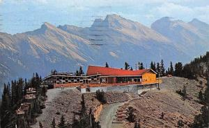 Canada Alberta Banff National Park, Mount Rundle Summit Tea House Upper Termina