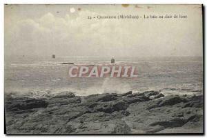 Old Postcard Quiberon Bay Moonlight