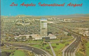 Los Angeles Airport Birds Eye 1960s Postcard