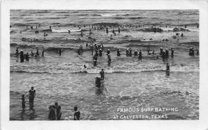 F27/ Galveston Texas RPPC Postcard 1911 Famouse Surf Bathing Beach