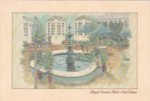 Louisiana New Orleans Royal Sonesta Hotel Patio Terrace