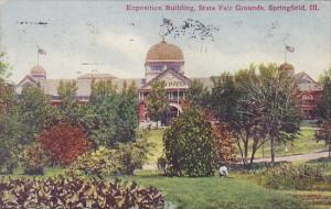Illinois Springfield Exposition Building State Fair Grounds 1910