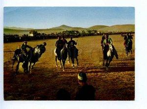 196042 AFGANISTAN Buskaschi game on horses Old photo postcard