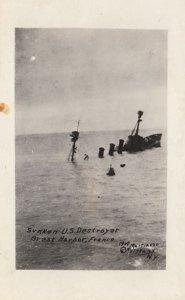RP: BREST, Finistere, France; 1914-1918 ; Sunken U.S. Destroyer