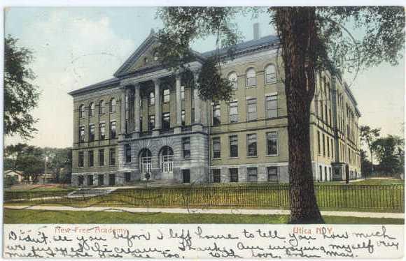 UND/B New Free Academy NY New York 1906